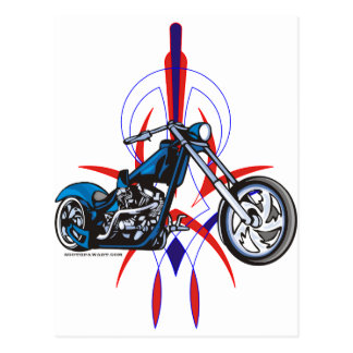 Pinstripe Motorcycle Postcard