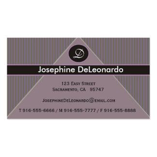Pinstripe Purple Business Cards