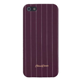 Pinstripe Purple Pattern Savvy Cover For iPhone 5