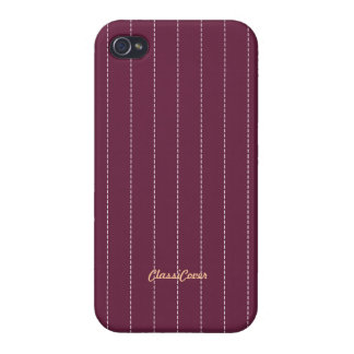 Pinstripe Red Pattern Savvy Covers For iPhone 4