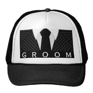 Pinstripe Suit Bachelor Party Groom Hat or Cap