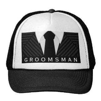 Pinstripe Suit Bachelor Party Groomsman Hat or Cap