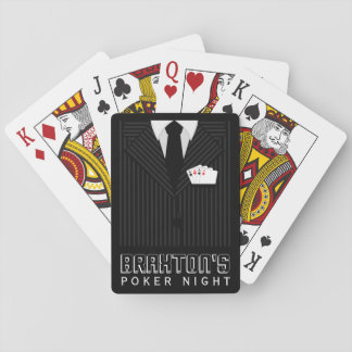 Pinstripe Suit Casino Poker Night Playing Cards