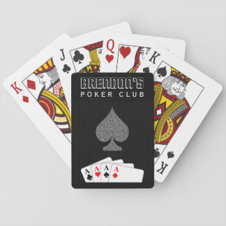 Pinstripe Suit Poker Club Casino Playing Cards