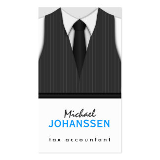 Pinstripe Suit Vest Tie Accountant Business Cards Business Card Templates