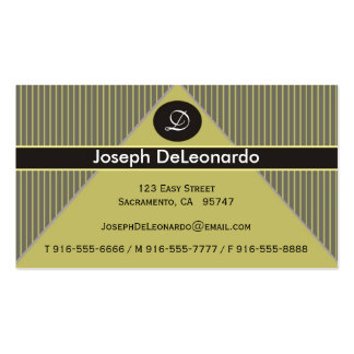 Pinstripe Yellow Business Cards