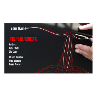 Pinstriped Pack Of Standard Business Cards