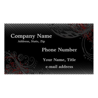 Pinstripes and Swirls Business Cards