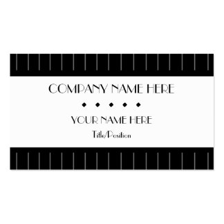 Pinstripes Business Card