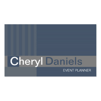 Pinstripes Monogram Initials Event Planner slate Pack Of Standard Business Cards
