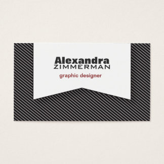 Pinstripes Ribbon Business Card (black)