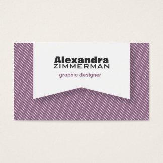 Pinstripes Ribbon Business Card (lavender)