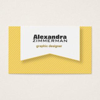 Pinstripes Ribbon Business Card (lemon yellow)