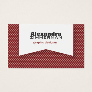 Pinstripes Ribbon Business Card (maroon)