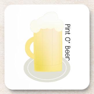 Pint O' Beer Beverage Coasters