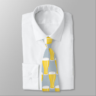 Pint of Beer on Diagonal Stripes - Custom Color Tie