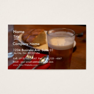 Pint Of Beer With Some Bread Business Card