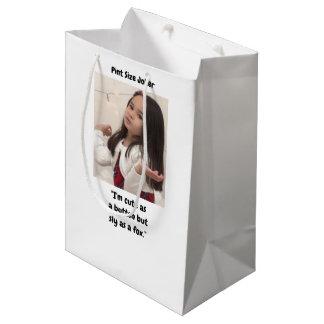 Pint Size Joker: Buttons And Foxes Medium Gift Bag