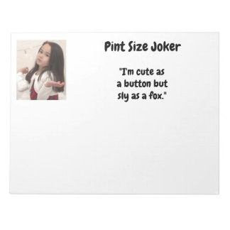 Pint Size Joker: Buttons And Foxes Notepad