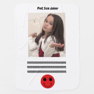 Pint Size Joker: Cafeteria, Steak, And Lobster Baby Blanket