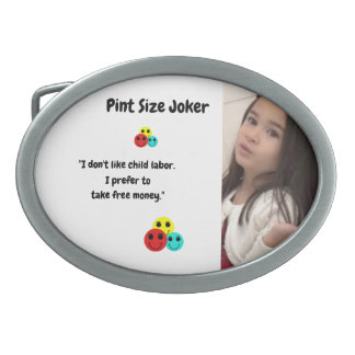 Pint Size Joker: Child Labor And Free Money Belt Buckle