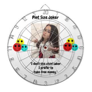 Pint Size Joker: Child Labor And Free Money Dartboard