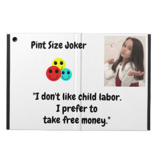 Pint Size Joker: Child Labor And Free Money iPad Air Cover