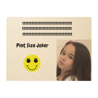 Pint Size Joker Design: Adult-Sized Booster Seat Wood Print