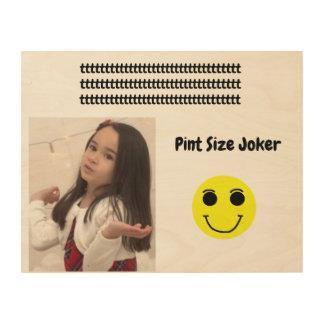 Pint Size Joker Design: Adult-Sized Booster Seat Wood Wall Decor