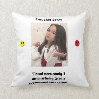 Pint Size Joker Design: Candy Taste Tester Cushion