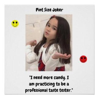 Pint Size Joker Design: Candy Taste Tester Poster