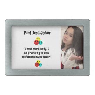 Pint Size Joker Design: Candy Taste Tester Rectangular Belt Buckle
