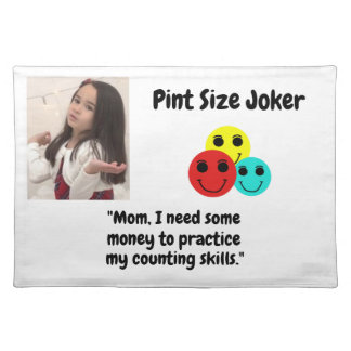 Pint Size Joker Design: Money And Counting Skills Placemat