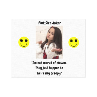Pint Size Joker Design: Scary, Creepy Clowns Canvas Print