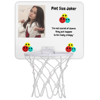 Pint Size Joker Design: Scary, Creepy Clowns Mini Basketball Hoop