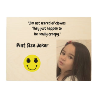 Pint Size Joker Design: Scary, Creepy Clowns Wood Wall Art