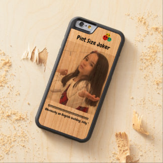 Pint Size Joker: English Bulldog Carved Cherry iPhone 6 Bumper Case