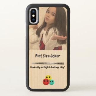 Pint Size Joker: English Bulldog iPhone X Case