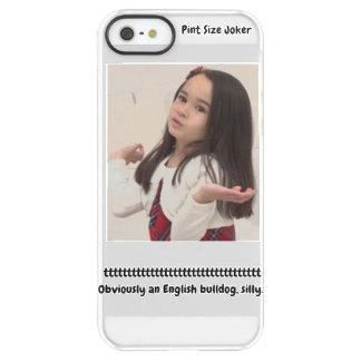 Pint Size Joker: English Bulldog Permafrost® iPhone SE/5/5s Case