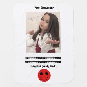 Pint Size Joker: English Bulldogs And Greasy Food Baby Blanket