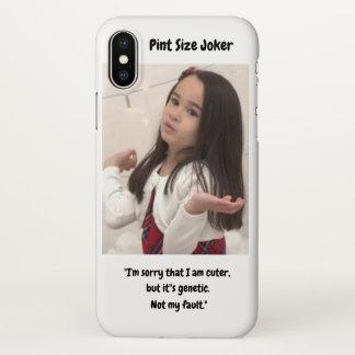 Pint Size Joker: Genetic Cuteness Not My Fault iPhone X Case