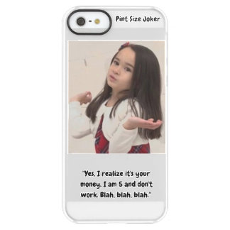 Pint Size Joker: I Am 5 And Don't Work Permafrost® iPhone SE/5/5s Case
