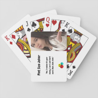 Pint Size Joker: I Am 5 And Don't Work Playing Cards