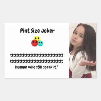 Pint Size Joker: Irish Setter Speaks Rectangular Sticker