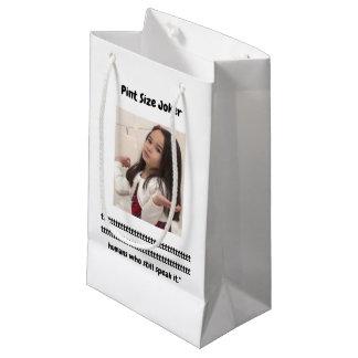Pint Size Joker: Irish Setter Speaks Small Gift Bag