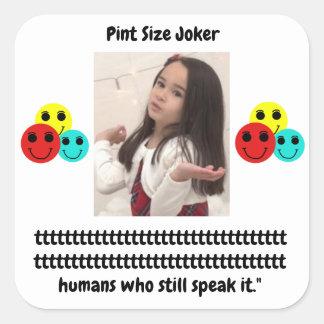 Pint Size Joker: Irish Setter Speaks Square Sticker