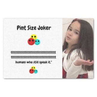Pint Size Joker: Irish Setter Speaks Tissue Paper