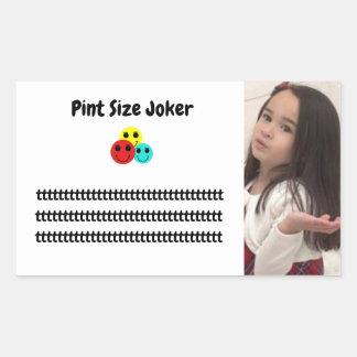 Pint Size Joker: Principal's Job Rectangular Sticker