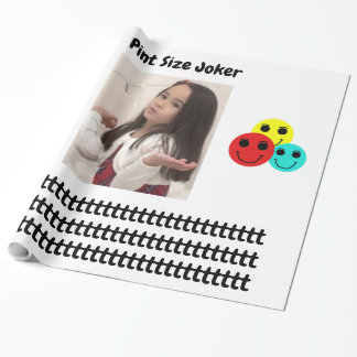 Pint Size Joker: Principal's Job Wrapping Paper
