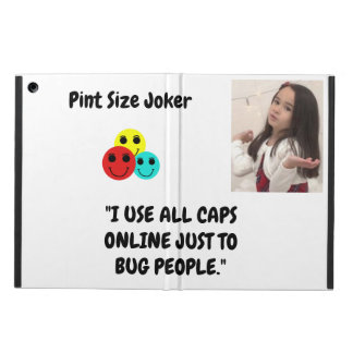 Pint Size Joker: Use All Caps To Bug People Case For iPad Air